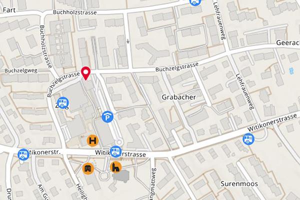 Die Karte zeigt den Standort von Lerneffekt Witikon