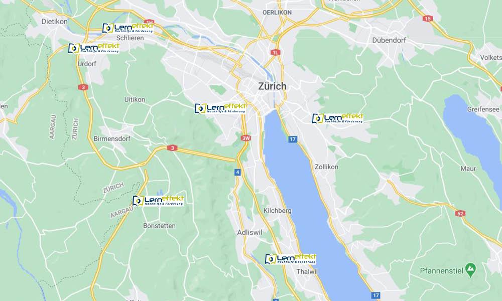 Die Karte zeigt die Lerneffekt Standorte